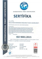 Barsu ISO 9001 2015 Belgesi